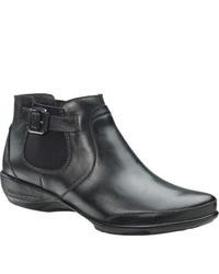 Aetrex Trex Essence Amy Ankle Boot Black Leather Boots