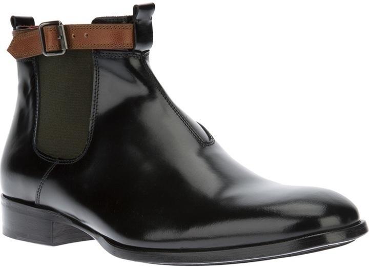Alexander McQueen Buckled Chelsea Boots