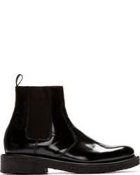 Ami Alexandre Mattiussi Black Leather Heavy Sole Chelsea Boots