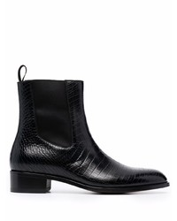 Tom Ford Alligator Print Elasticated Panel Ankle Boots