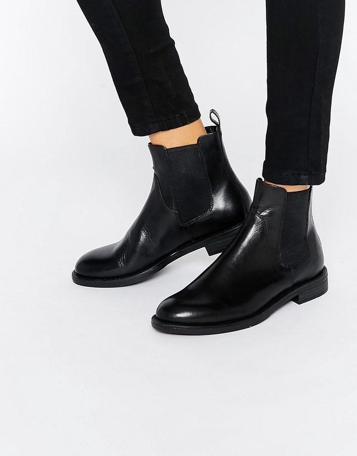 $136, Vagabond Amina Black Leather Chelsea Boots
