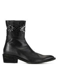 Haider Ackermann Ankle Boots With Laser Cuts