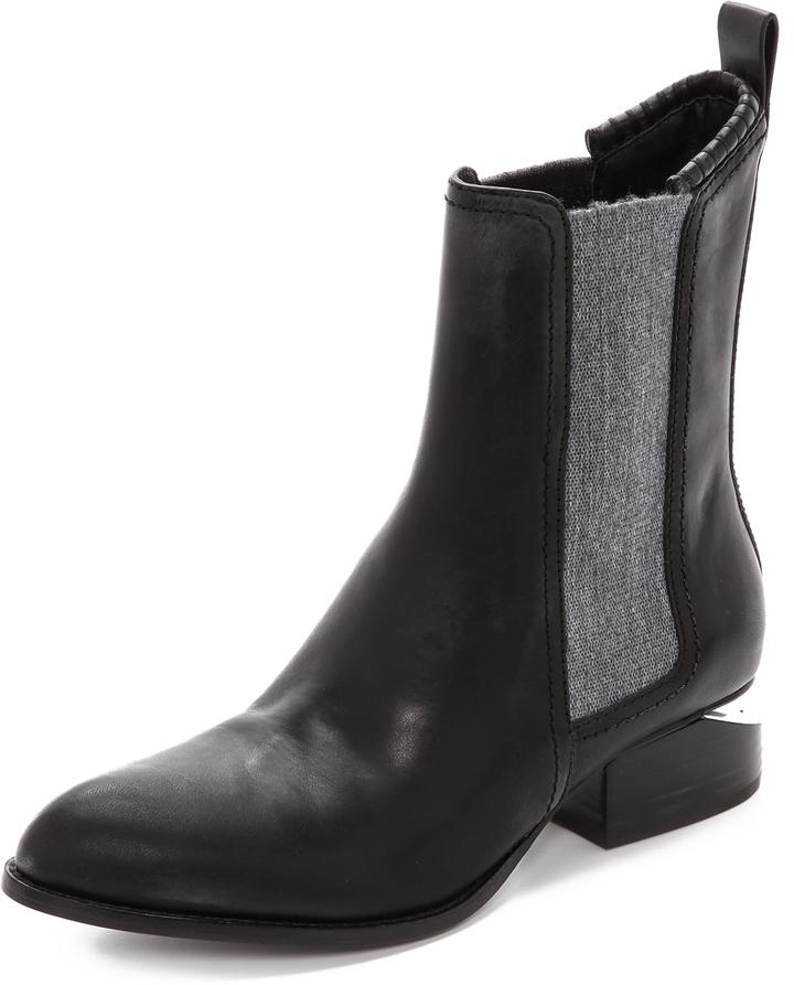 Achat dégagement grande sélection $595, Alexander Wang Anouck Chelsea Boots With Rhodium Hardware