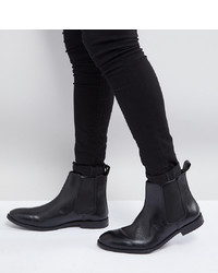 ASOS DESIGN Asos Wide Fit Chelsea Boots In Black Leather