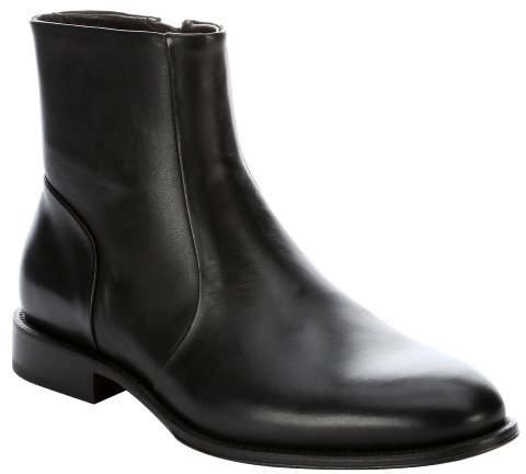 ... a. testoni Basic Black Leather Chelsea Ankle Boots