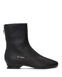 Raf Simons Black 2001 2 Zip Up Boots