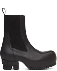 Rick Owens Black Beatle Field Boots