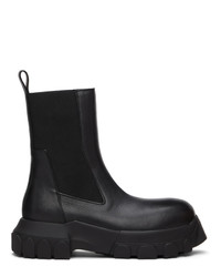 Rick Owens Black Beetle Bozo Tractor Boots