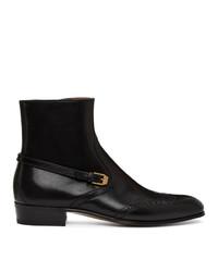 Gucci Black Brogue Boots