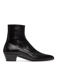 Saint Laurent Black Casey Ankle Boots