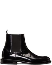 AMI Alexandre Mattiussi Black Chelsea Boots