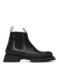 Jil Sander Black Chunky Chelsea Boots