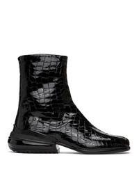 Maison Margiela Black Croc Airbag Tabi Boots
