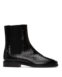 Maison Margiela Black Croc Tabi Chelsea Boots