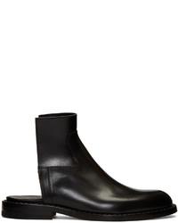 Maison Margiela Black Cut Off Chelsea Boots