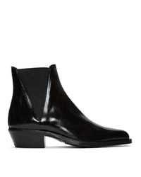 Saint Laurent Black Dakota Chelsea Boots