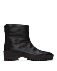 Kenzo Black Ed Leather Chelsea Boots