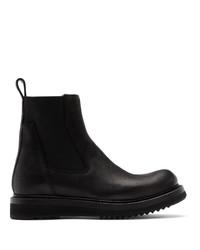 Rick Owens Black Elastic Creeper Chelsea Boots