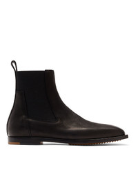 Rick Owens Black Flat Square Toe Chelsea Boots