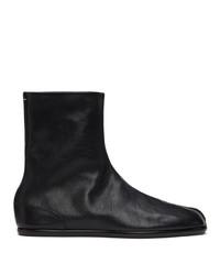 Maison Margiela Black Flat Tabi Boots
