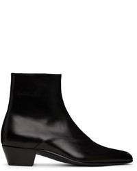 Saint Laurent Black Franz Zipped Boots