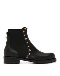 Valentino Black Garavani Beatle Boots