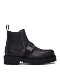 Valentino Black Garavani Vltn Beatle Chelsea Boots