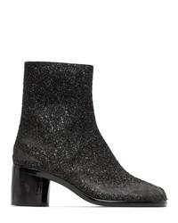 Maison Margiela Black Glitter Tabi Boots