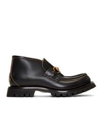 Gucci Black Horsebit Boots