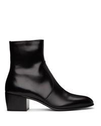 Saint Laurent Black James Boots