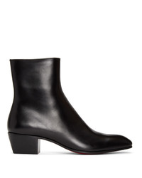 Christian Louboutin Black Jolly Zip Up Boots