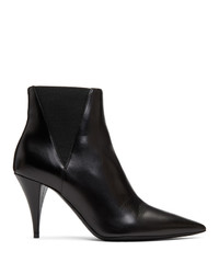 Saint Laurent Black Kiki Heeled Chelsea Boots