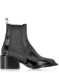 Jil Sander Black Leather Ankle Boot