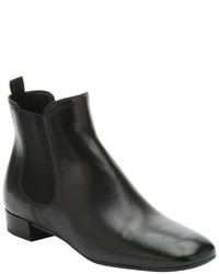 Prada Black Leather Beatles Pull On Chelsea Ankle Booties