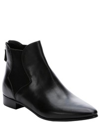 Prada Black Leather Chelsea Ankle Boots