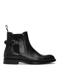 Etro Black Leather Chelsea Boot