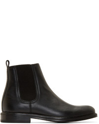 Carven Black Leather Chelsea Boots