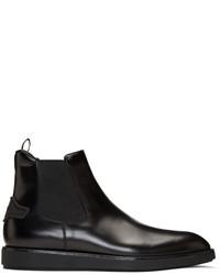 Prada Black Leather Chelsea Boots