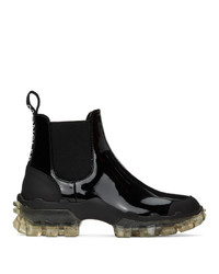 Moncler Black Leather Hanya Boot