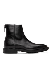 Paul Smith Black Leather Oscar Boots