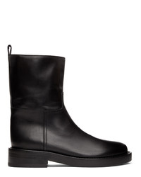 Ann Demeulemeester Black Leather Zip Up Boots