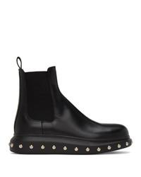 Alexander McQueen Black Liquid Spaz Chelsea Boots
