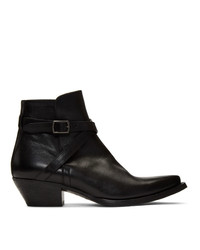 Saint Laurent Black Lukas Boots