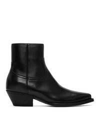 Saint Laurent Black Lukas Zip Boots