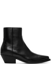 Saint Laurent Black Lukas Zip Boots