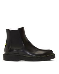 Neil Barrett Black Neon Detail Chelsea Boots