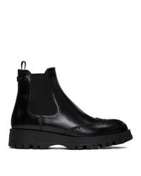 Prada Black Oxford Chelsea Boot