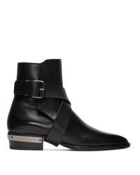 Balmain Black Page Ankle Boots