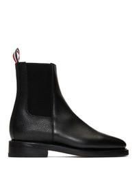 Thom Browne Black Pebble Chelsea Boots