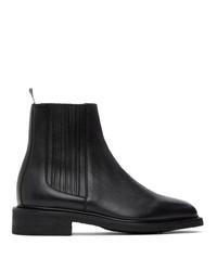 Thom Browne Black Pebbled Chelsea Boots